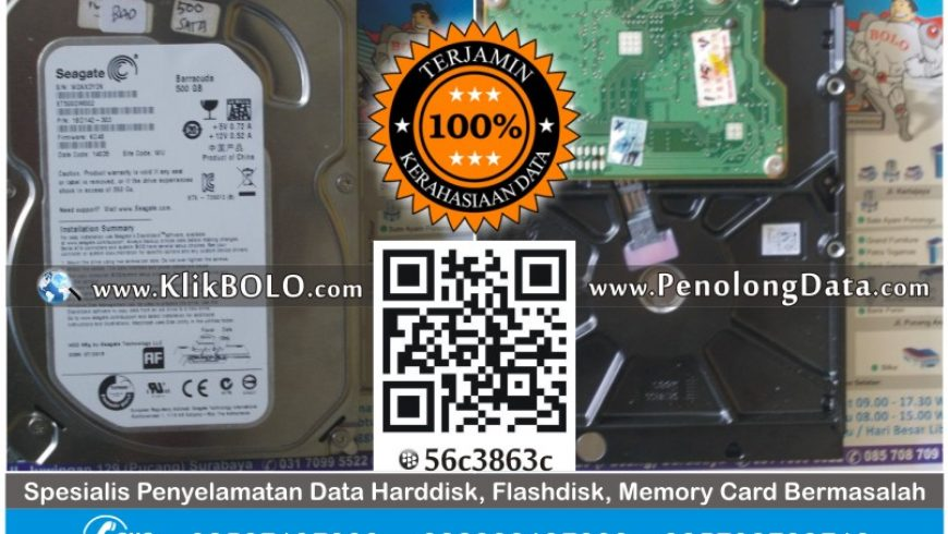 Recovery Data Harddisk Seagate 500 GB Cipto Dwi Universitas Graha