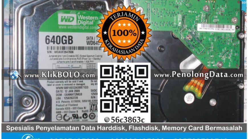 Recovery Data Harddisk WD 640 GB – Edwin Anugerah Jaya Teknika Malang