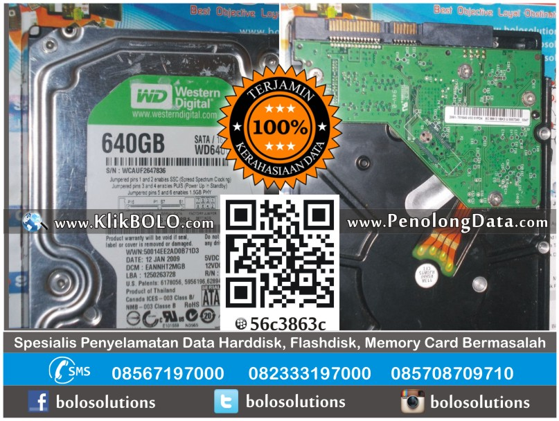 RECOVERY DATA HARDDISK WD 640 GB EDWIN ANUGERAH JAYA TEKNIKA MALANG