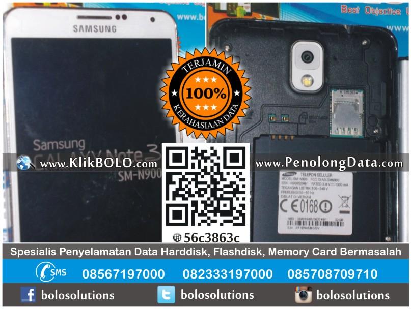 RECOVERY DATA SAMSUNG GALAXY NOTE 3 SM-N900 SISILIA DHARMAHUSADA