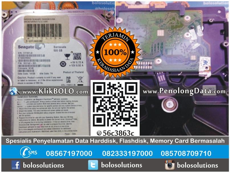 Recovery Data Harddisk Seagate 500GB Bambang Purwanto Ngawi