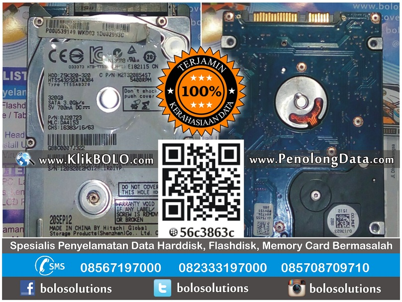 Recovery Data Harddisk Hitachi 320GB Anang Wonocolo