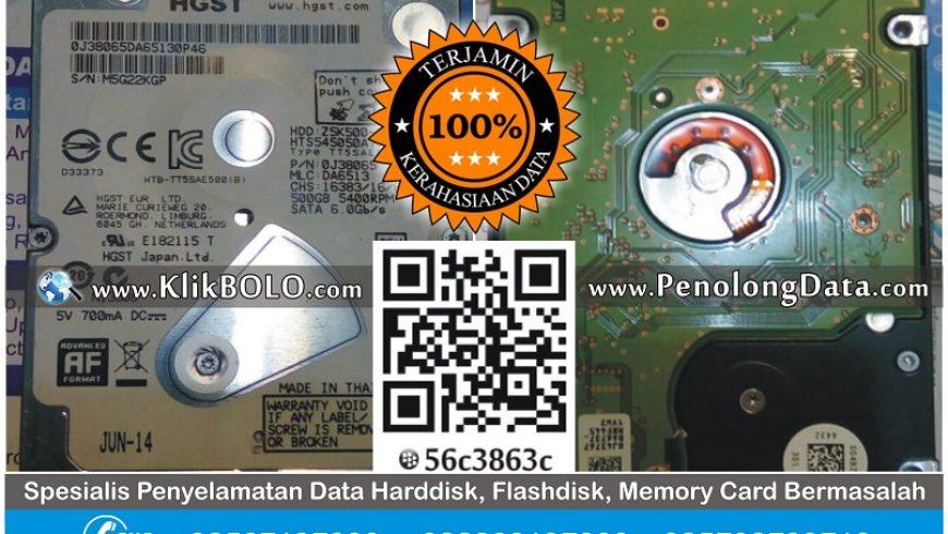 Recovery Data Harddisk Internal Hitachi 500GB Budijono Ponorogo