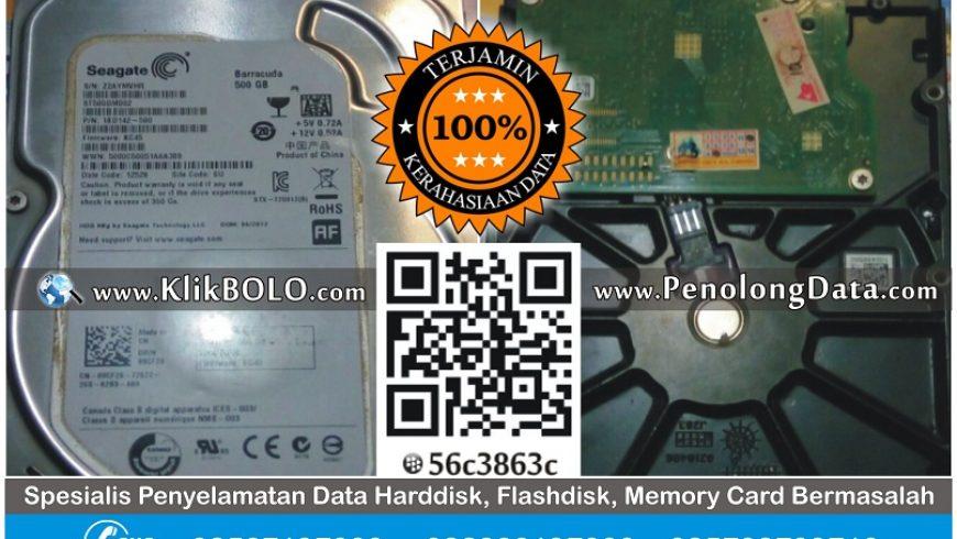 Recovery Data Harddisk Seagate 500GB Wawan Tulungagung