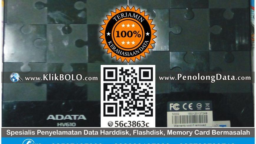 Recovery Data Harddisk Eksternal Adata 500GB Nur Wahyudi Ngawi