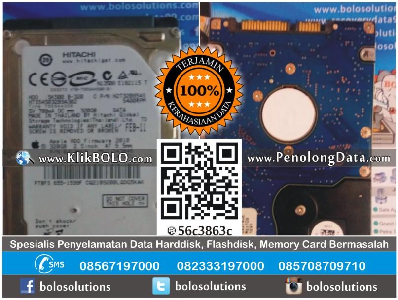 Recovery Data HD Hitachi 320GB Dedy PT Dinamika Kreasi Prima