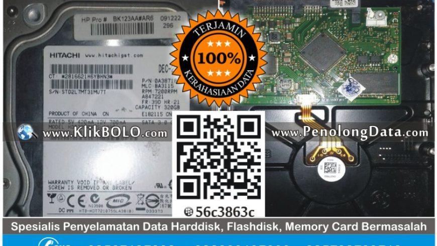 Recovery Data HD Hitachi 320GB PT Hadji Kalla Makasar