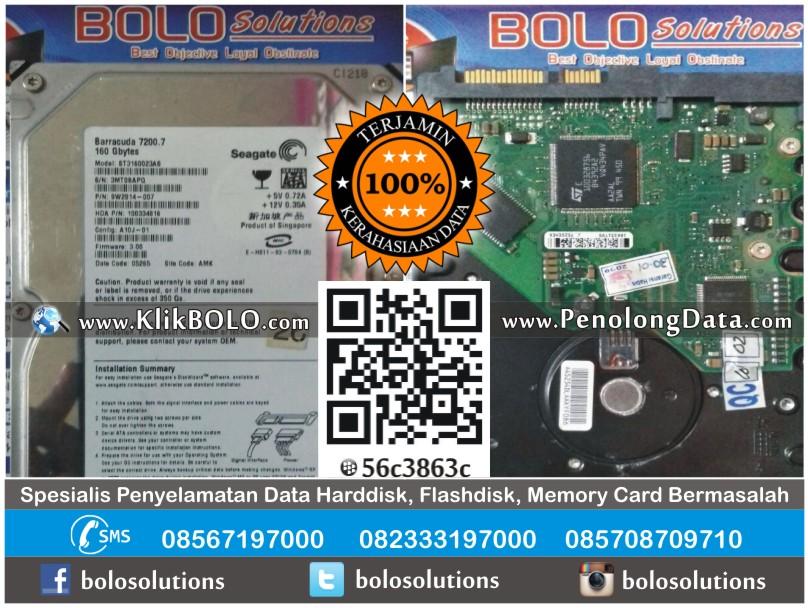 Recovery Data Harddisk Internal Seagate 160GB Agus W Sidoarjo