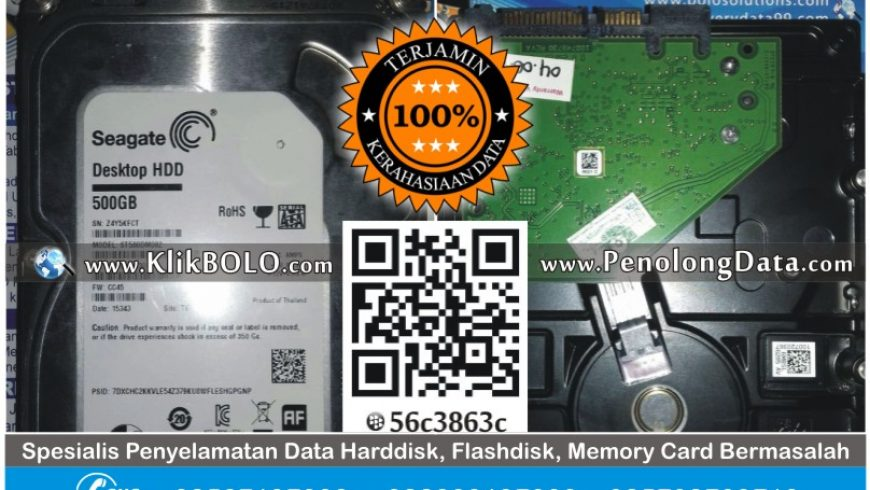 Recovery Data Harddisk Internal Seagate 500GB Agung Pandaan