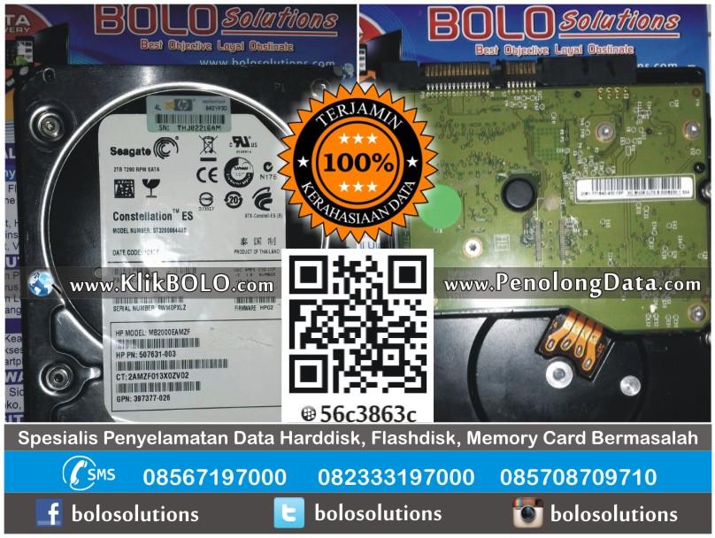Recovery Data Harddisk Internal Seagate 2TB Moses Edwin Sidoarjo