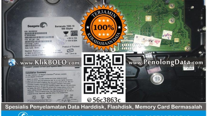Recovery Data Harddisk Internal Seagate 500GB Ulil Albab Surabaya