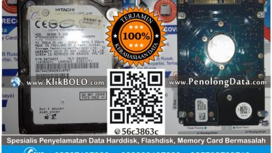 Recovery Data HD Hitachi 320GB Sandy Aditya Madiun