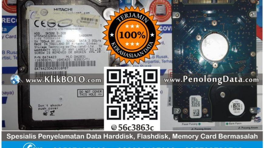 Recovery Data HD Hitachi 320GB Sandy Aditya Madiun