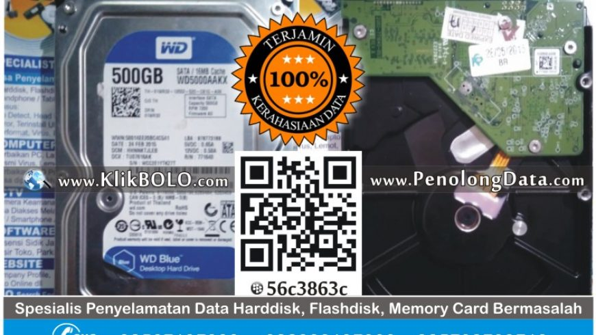 Recovery Data Harddisk WD 500GB Niko PT Karya Mas Sejati