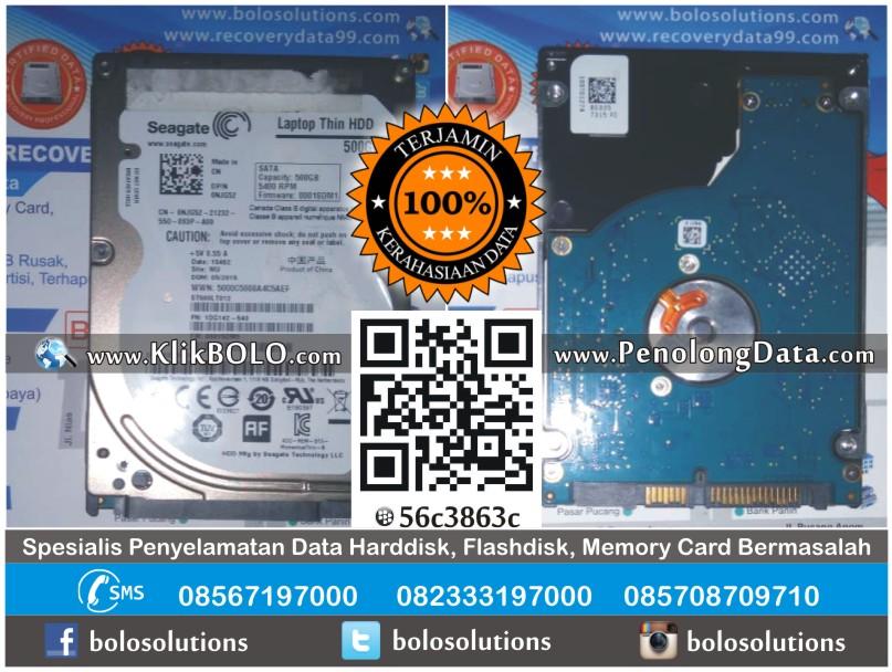 Recovery Data Harddisk Internal Seagate 500GB BPR Bank Jombang