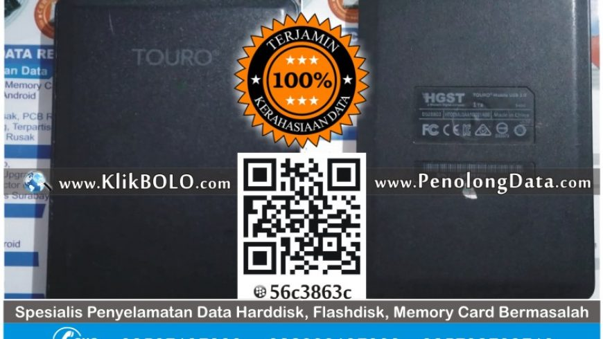 Recovery Data HD HGST TOURO 1 TB Bu Ririn SMPN 45 Surabaya