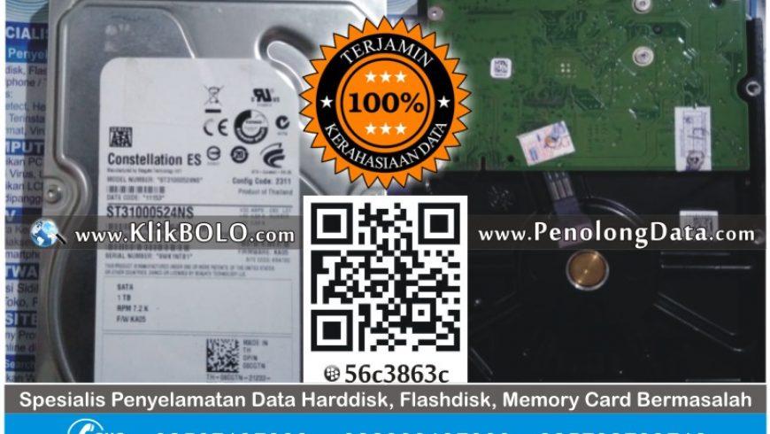 Recovery Data Sukses | Harddisk Seagate 1TB Agus PT Mahkota Berlian Cemerlang