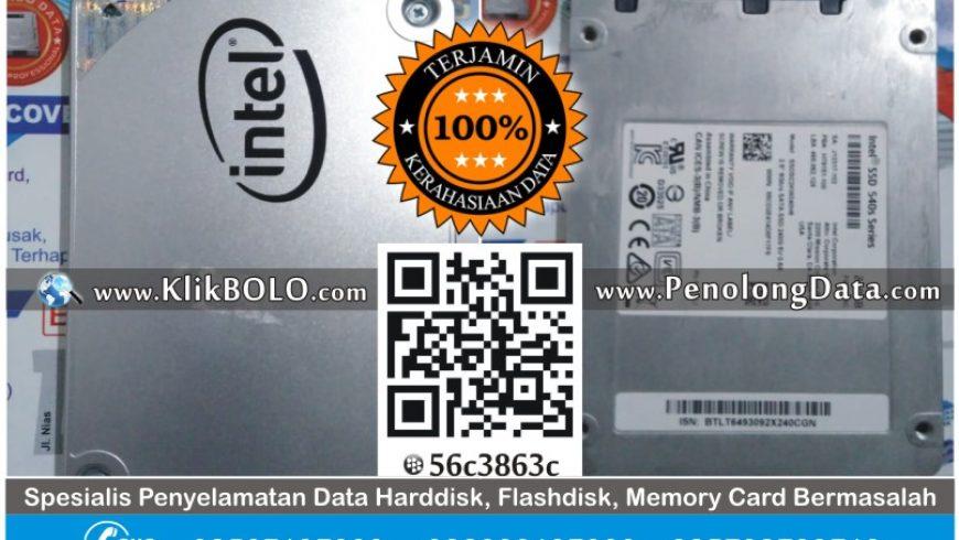 Recovery Data SSD | SSD Intel 540s Series 240GB Taufik PT CMWI Pasuruan