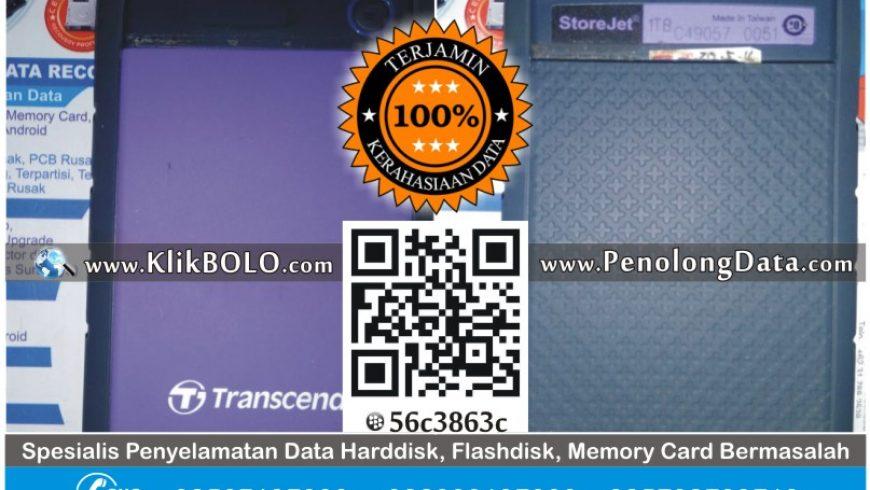 Recovery Data Transcend | Harddisk Transcend 1TB Evan PR Kridotani Ngawi