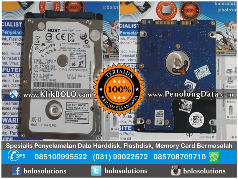 Recovery data sukses