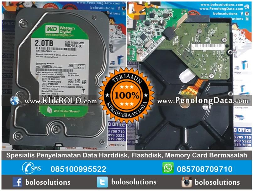 Recovery Data WD Green Finish | Harddisk WD 2TB Sisyanto Banyuwangi
