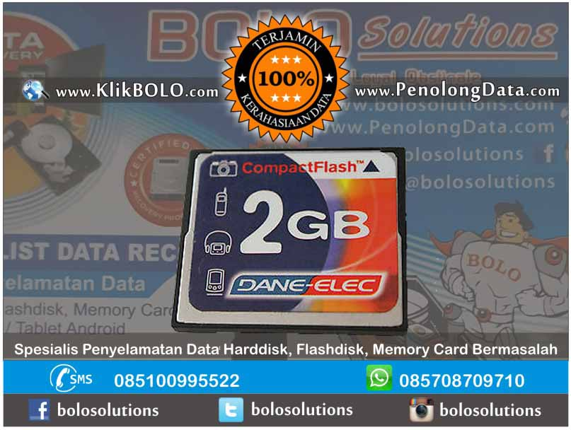 Recovery Data CF Finish | Compact Flash Dane-Elec 2GB David Budiarto Surabaya