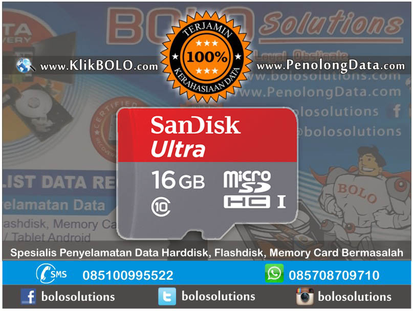 Recovery Data MSD Finish | Micro SD Sandisk 16GB Bagoes W Surabaya