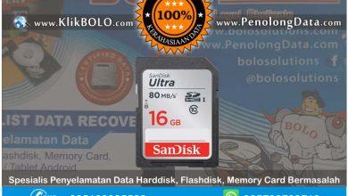 Recovery Data SDHC Finish | SDHC Sandisk 16GB Ramadhan Putranto Surabaya