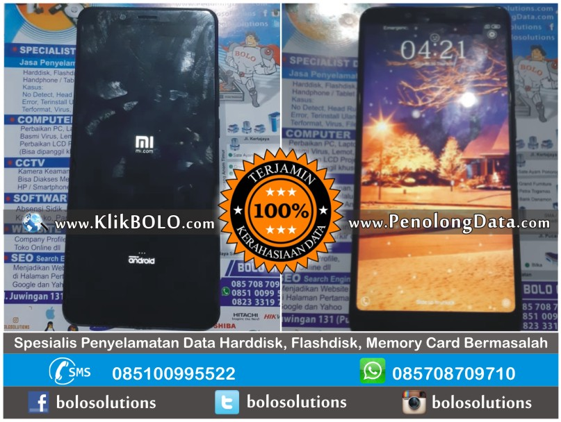 Recovery Data HP Android Bootloop Xiaomi Redmi Note 5 – Margi Klojen Malang