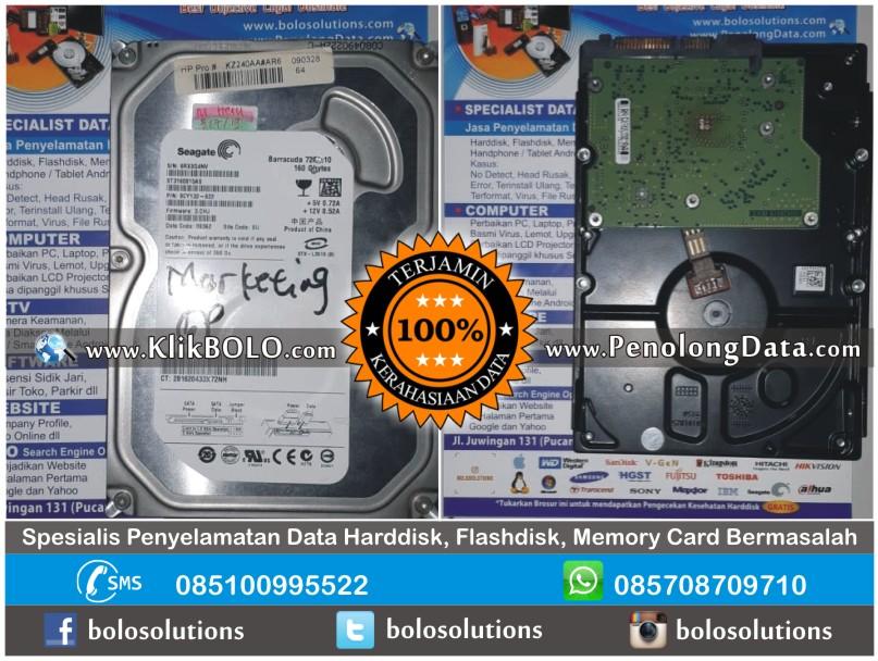 Recovery Data Seagate Finish | Harddisk Seagate 160GB Heru Surabaya