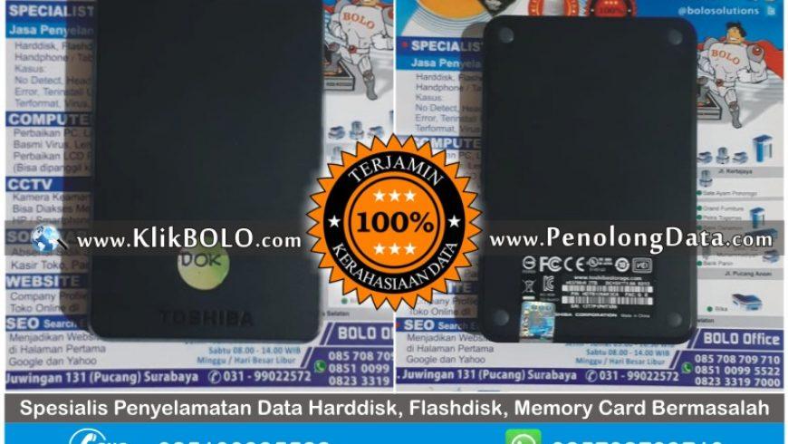 Recovery Data Selesai | Recovery Data Harddisk Toshiba 2TB Andi Mariono Gresik