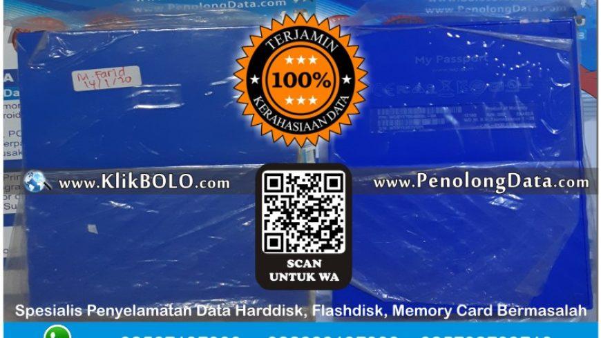 Recovery Data WD Selesai | Harddisk WD 4TB M. Farid Husni Mubarok Grogol Kediri