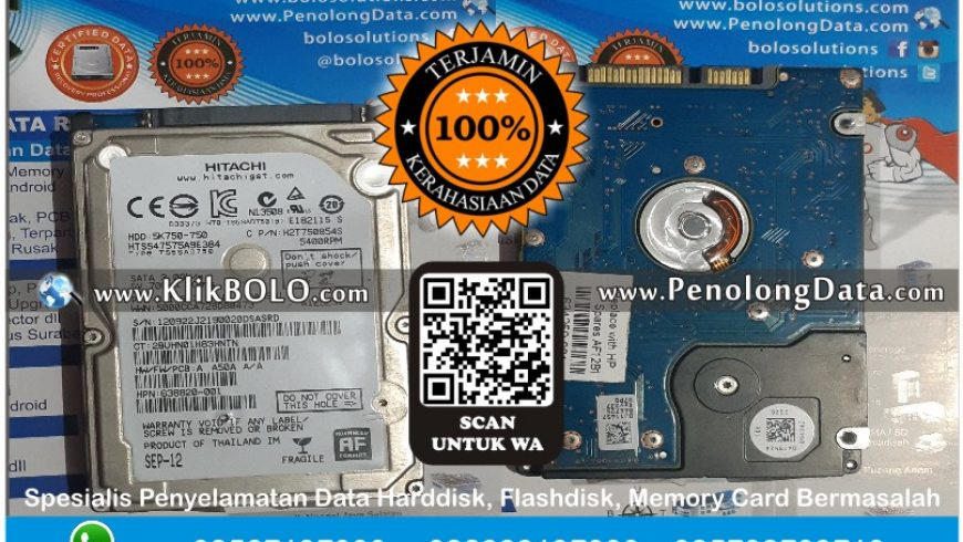 Recovery Data Hitachi Finish | Harddisk Hitachi 750 GB Samsul Bahri Magetan