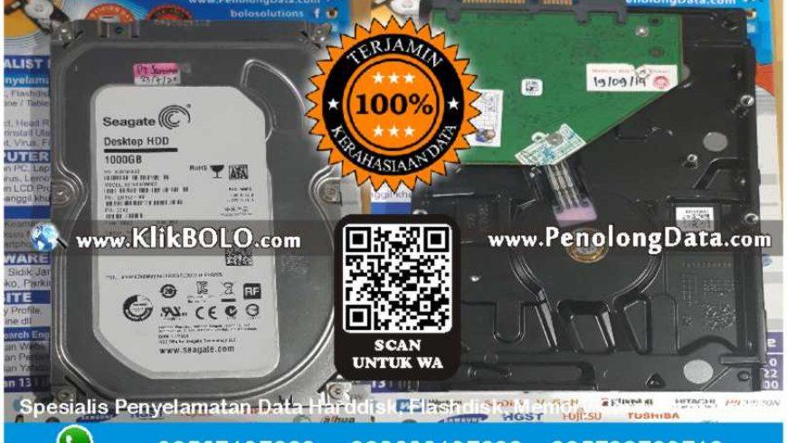 Recovery Data Seagate Selesai | Harddisk Seagate 1000 GB PT Sarana Niaga Suryamakmur, Bagus Romadhon