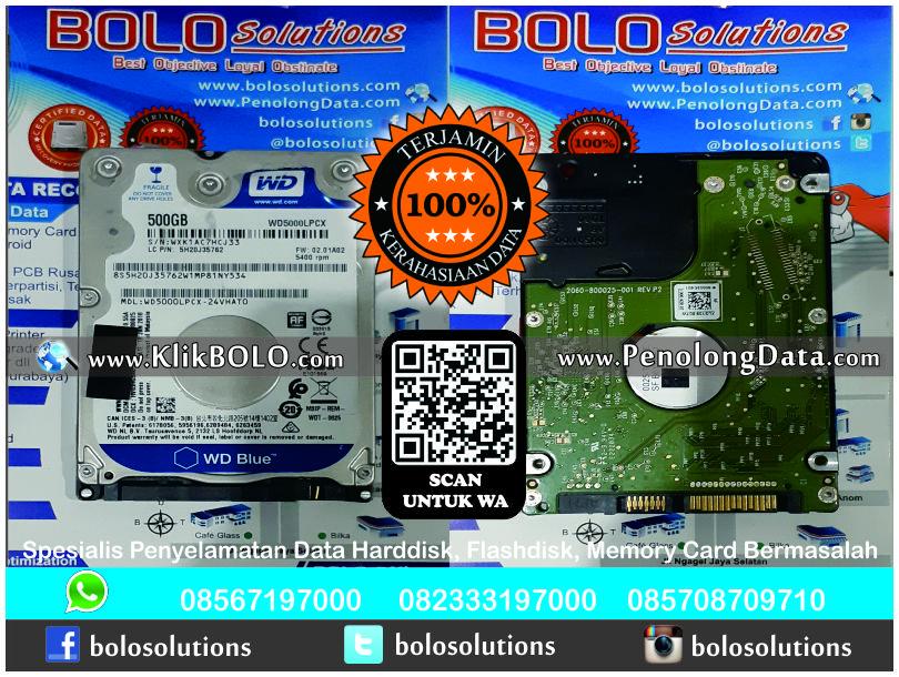 Recovery Data WD Selesai | Harddisk WD Scorpio Blue 500 GB PT. MY FOOD INDONESIA