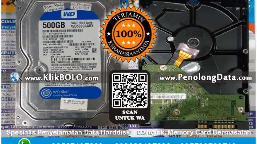 Recovery Data WD Finish | Harddisk WD Caviar Blue 500 GB PT. BANK MANDIRI RSAM Surabaya, Muhammad Khuzaini
