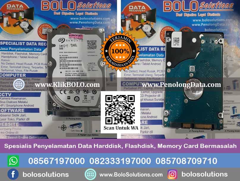 Recovery Data Seagate Laptop Thin Hdd Finish   Harddisk Seagate 500 GB, PT. DHL Surabaya, Sumaryo