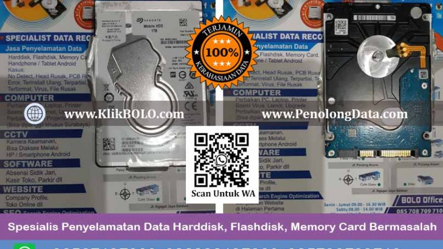 Recovery Data Harddisk Seagate Mobile Hdd 1 TB, PT. PJB SERVICES Surabaya, Edy Prasetyo, ST Finish