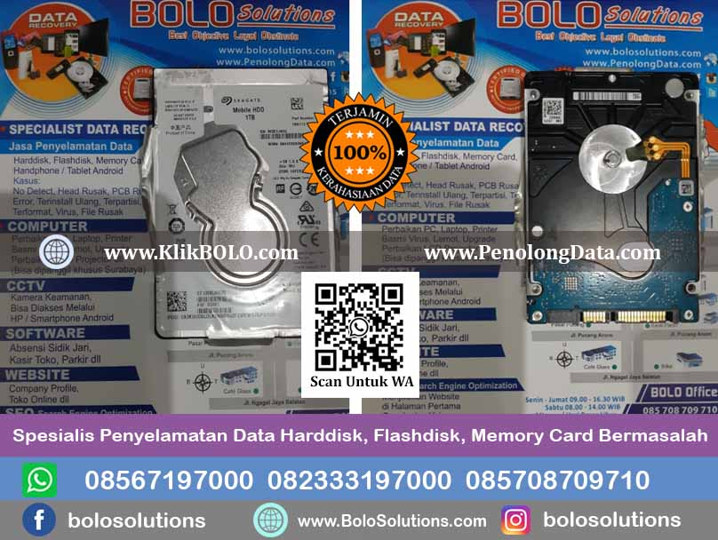 Recovery Data Seagate Mobile Hdd PT. PJB SERVICES Surabaya