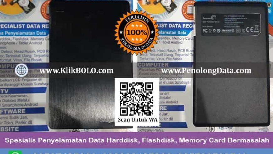 Recovery Data Seagate Slim Portable Drive Finish | Harddisk Seagate 500 GB, Rachmat Sugiarto