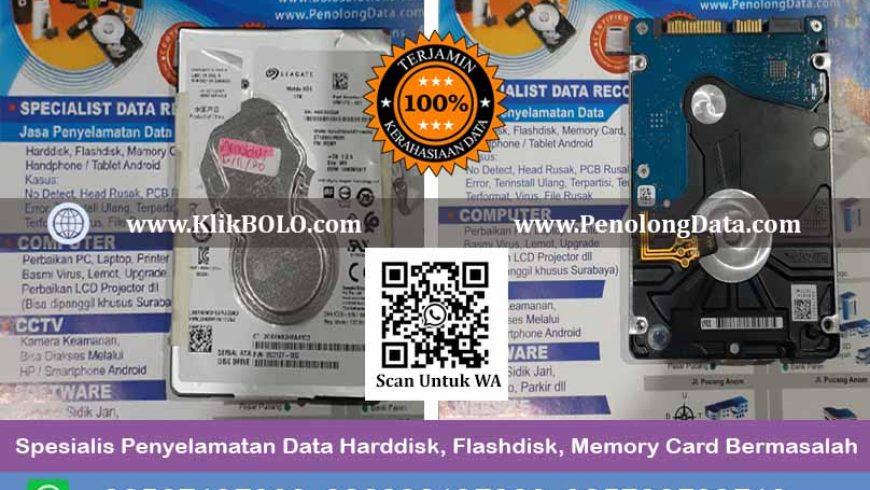 Recovery Data Seagate Mobile Hdd Finish | Harddisk Seagate 1 TB, PT. Hadji Kalla Mataram, Arnoldus